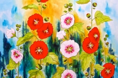 HOLLYHOCKS - Artist ©Terry Mower