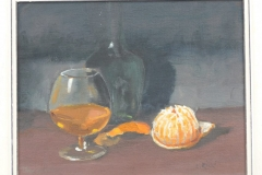 STILL LIFE WITH PEELED ORANGE - Oil - Artist © Renzon Rizzi